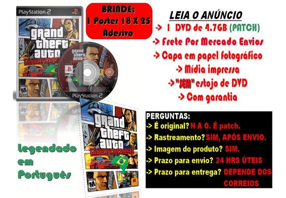 G.t.a: Liberty City Stories Legendado P/ps2 + Brinde Poster