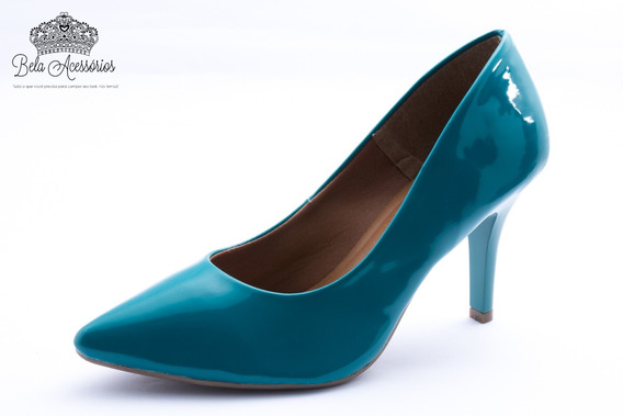 Sapato Social Scarpins Feminina Salto Alto Fino Comfort