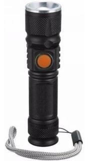 Lanterna Tática Potente Led 515 Recarregável Via Usb Zoom
