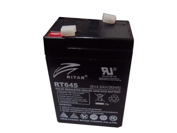Batería 6v/4.5a Ideal Para Lámparas De Emergencia.