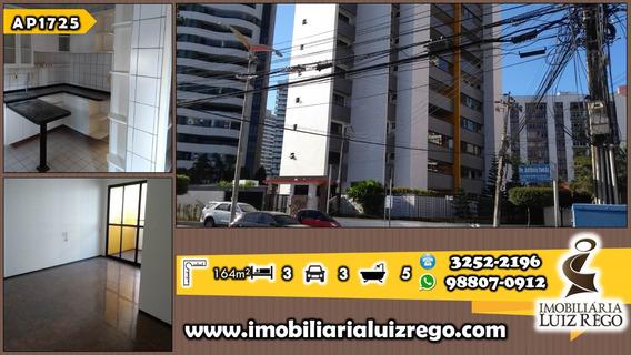 Ap1725- Aluga Apartamento Cocó, 3 Suítes, 3 Vagas, Gabinete