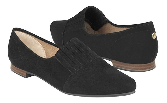 Flats Casuales Stylo Para Mujer Suede Negro 2035