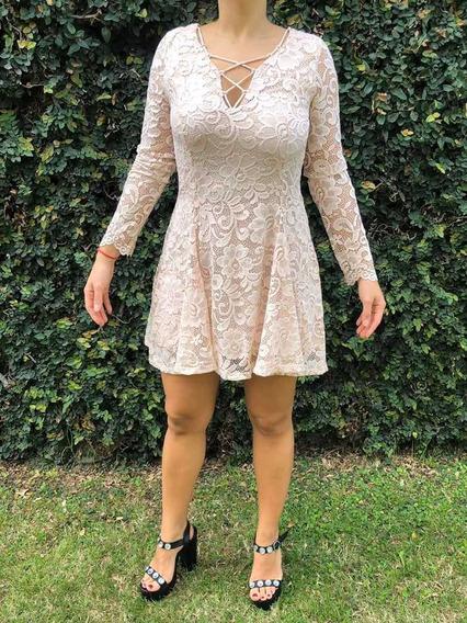 Vestido De Encaje Forever 21 Nuevo