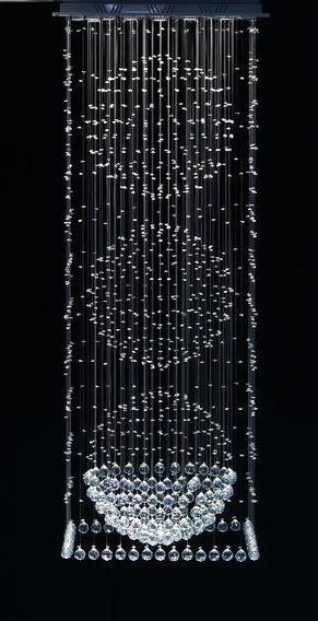 Lustre Cristal 3 Esferas De 50cm 65x65cm 2 Metros De Altura