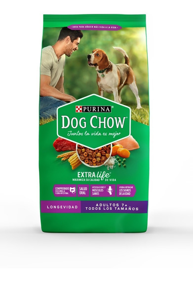 Purina® Dog Chow® Longevidad Adultos (7+) 8kg