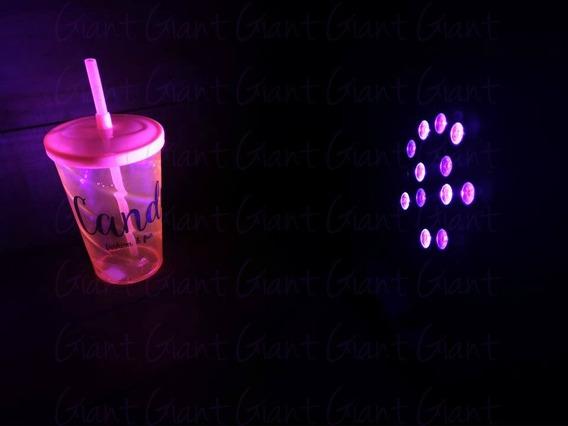 6 Canhão Led 18w Luz Negra Bivolt Cênica Neon Uv Strobo Dmx