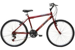 Bicicleta Aro 26 21 Marchas Flash Pop Bike Freio V-break