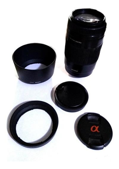 Lente Sony Af-d 75-300mm Completa: Tampas + 2 Parasol