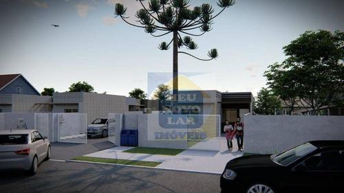 Casa Com 2 Dormitórios À Venda, 63 M² Por R$ 175.000,00 - Campina Da Barra - Araucária/pr - Ca0272
