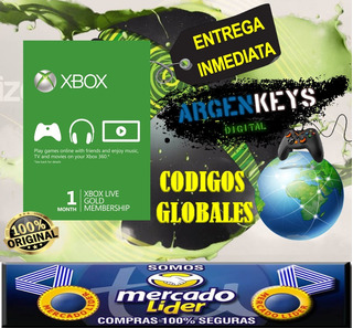 Xbox Live Gold 1 Mes || Xbox One/360 || Entrega Inmediata!!