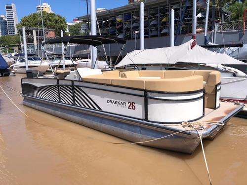 Pontoon De Boats Aluminio Drakkar 26