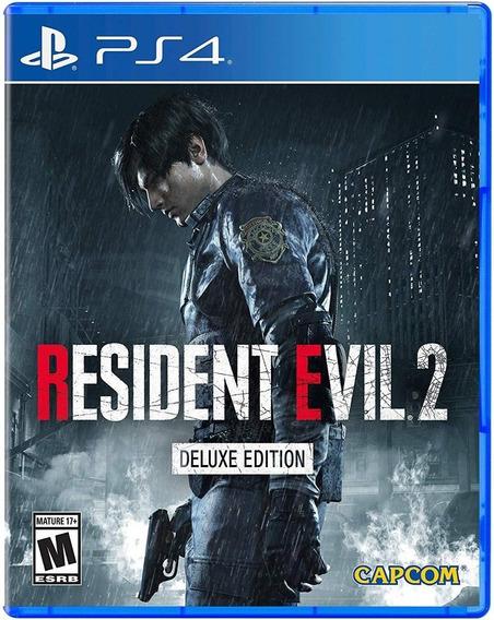 Resident Evil 2 Remake Deluxe Edition Ps4 Original 1 Digital