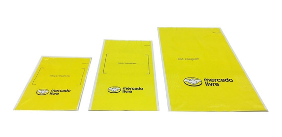 300 Envelopes Plásticos Segurança Mercado Livre Kit (pp/p/m)