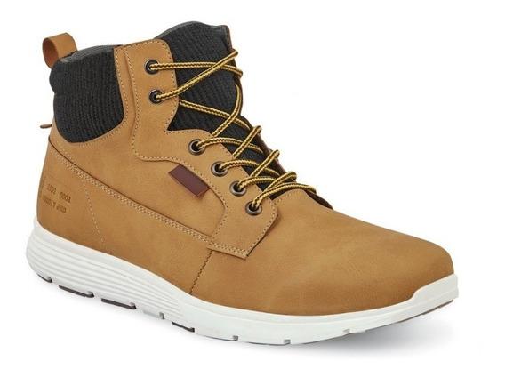 Zapatos Sneakers Botin Hombre Caballero Casual Ocre Mostaza