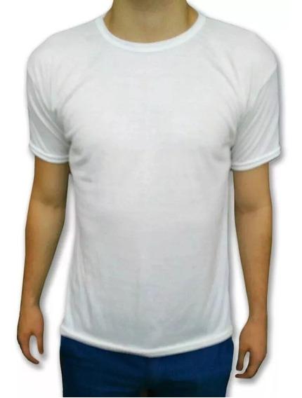 Remera P/sublimar P/estampar Modal Spum Hombre Blanca