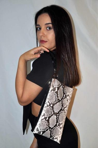 Oferta Sobre Cartera Animal Print Beige Y Negro