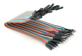 Pack 40 Cables Protoboard Hembra Hembra 10cm Arduino Dupont