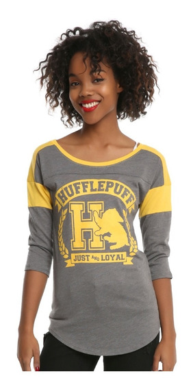 Blusa Playera Harry Potter Hufflepuff 3/4