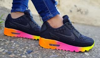 Zapatos Tenis Zapatillas Nike Air Max 90 Neon Dama Deportvio