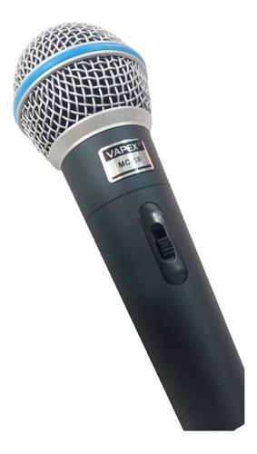 Micrófono Dinámico Unidireccional Pro Vapex Mc-58 Balanceado