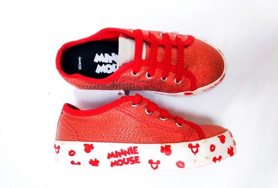 Tênis Infantil Menina Vermelho Minnie Mouse Disney 25 04