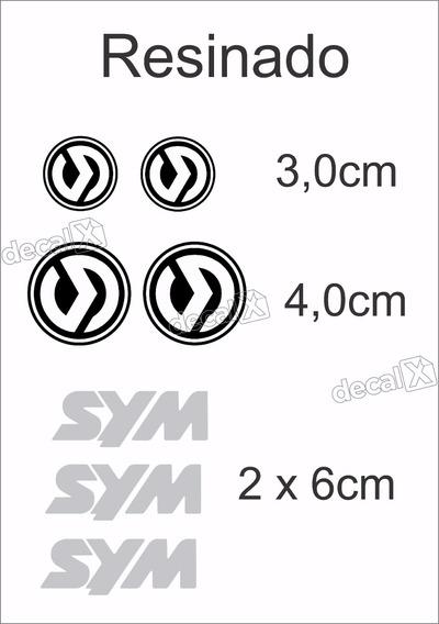 Emblema Adesivo Resinado Carenagem Sym Moto Dafra Citycom