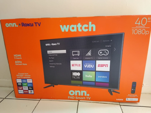 Televisor Led Smartv Onn Roku 40  1080p