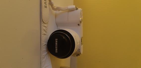 Câmera Digital Smart Samsung Nx1000 Branca 20.3 Mp
