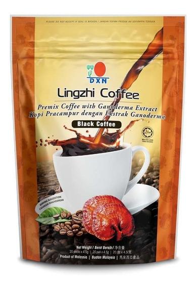 Black Coffee Dxn 2 En 1   Café Dxn Negro   Tostado Italiano