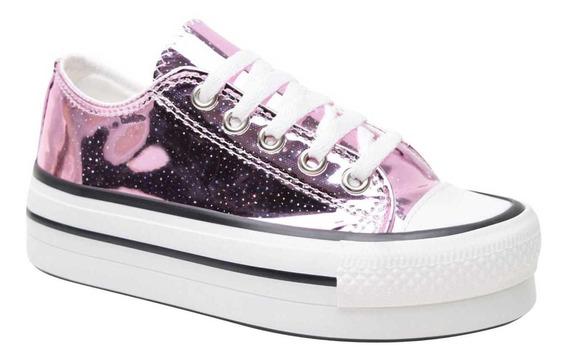 Zapatillas Star De Nena Con Plataforma All Fun
