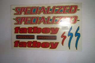 Adesivo Colante Bike Specialized Fatboy Verm.
