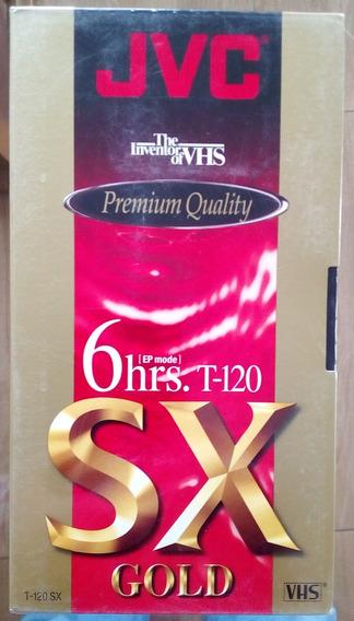 Fita Virgem Vhs Jvc Sx Gold Premium Quality T-120 - Lacrada
