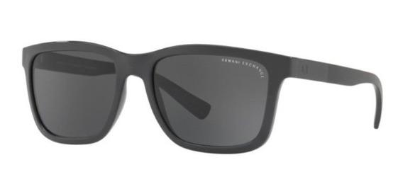 Oculos Sol Armani Exchange Ax4045s 824487 56 Cinza Brilho