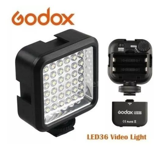 Iluminador Led Godox Led 36 Para Dslr Canon Nikon Sony