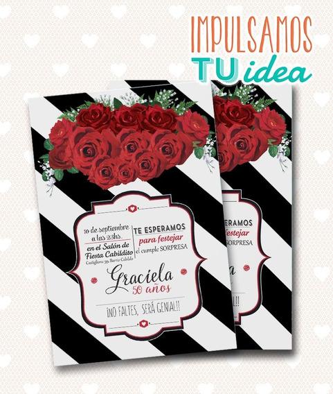 Tarjeta Invitacion 50 Años Invitaciones Y Tarjetas En