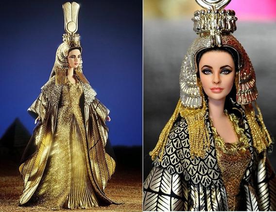 Barbie Cleopatra - Atriz Elizabeth Taylor - Mattel Novo