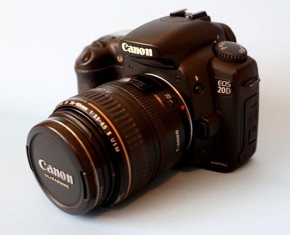Canon Eos 20d + Lente 28-105mm F/3.5-4.5 Excelente Na Caixa