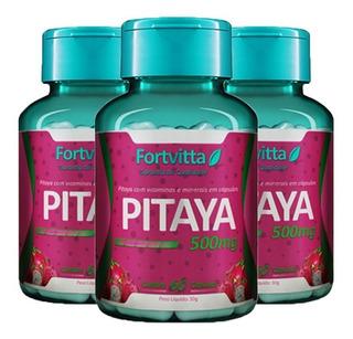 Pitaya - 60 Cápsulas (3 Unidades)- Fortvitta