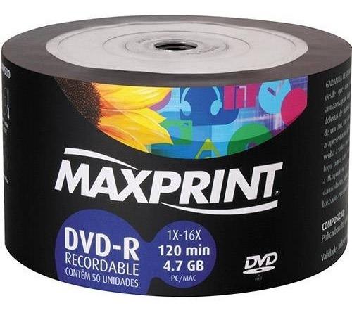 Dvd-r Maxprint 4,7gb 50unidades