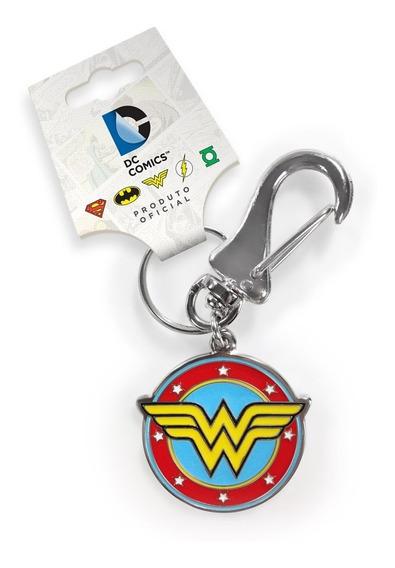 Chaveiro Wonder Woman Logo Em Metal