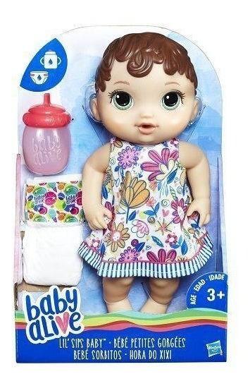 Boneca Baby Alive Original Morena Hora Do Xixi Nova Lacrada