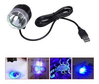 Lanterna Uv Ultra Violeta Luz Negra Usb Vidro Celular