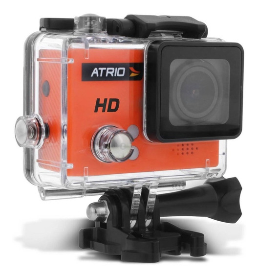 Kit Câmera Ação Atrio Fullsport Hd Lcd + Case À Prova D