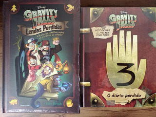 Kit Livro Gravity Falls Diário 3 + Livro Lendas Perdidas Hq