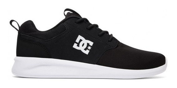 Zapatillas Dc Shoes Midway Negra Blanca Running Unisex