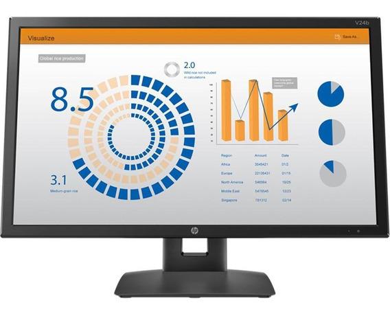 Monitor Hp V24b - 23,6 C/ Ajuste De Altura - 3 Anos On Site
