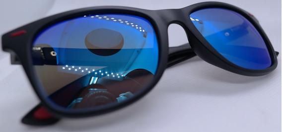 Lentes Polarizados Diseño Italiano Azul Marco Grueso