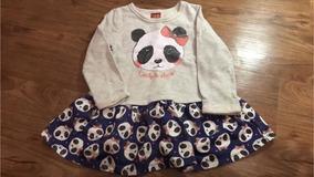 Vestido Manga Longa Panda