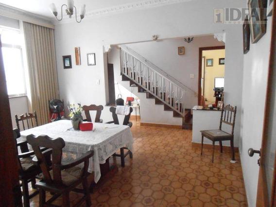Sobrado 3 Dormitórios, Edícula, 2 Vagas, Quintal, Macuco, Santos/sp - So0210