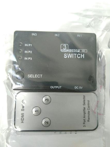 Hdmi Switcher 3 Em 1 Entradas Hdmi